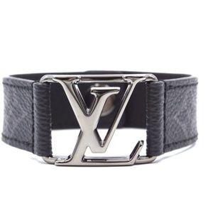 Initials Ruthenium Dark Silver Hardware Bracelet